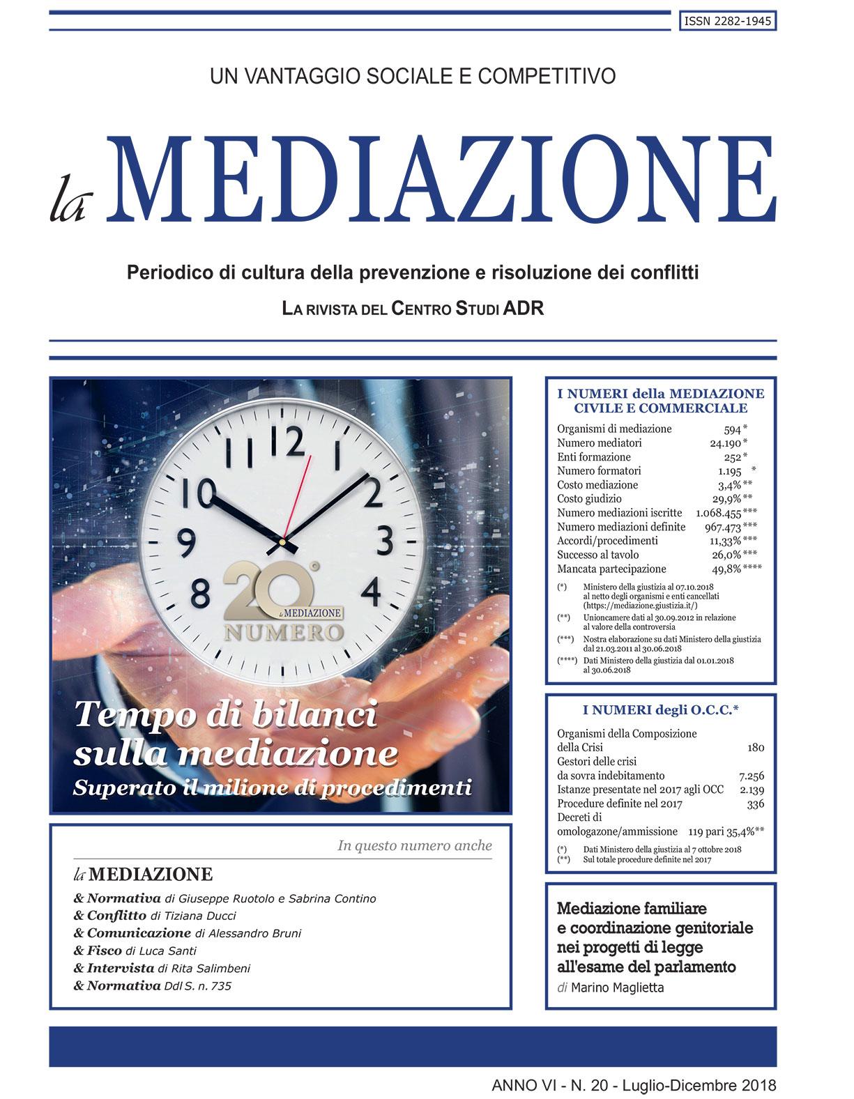Tempo di bilanci sulla mediazione di Marco Ceino