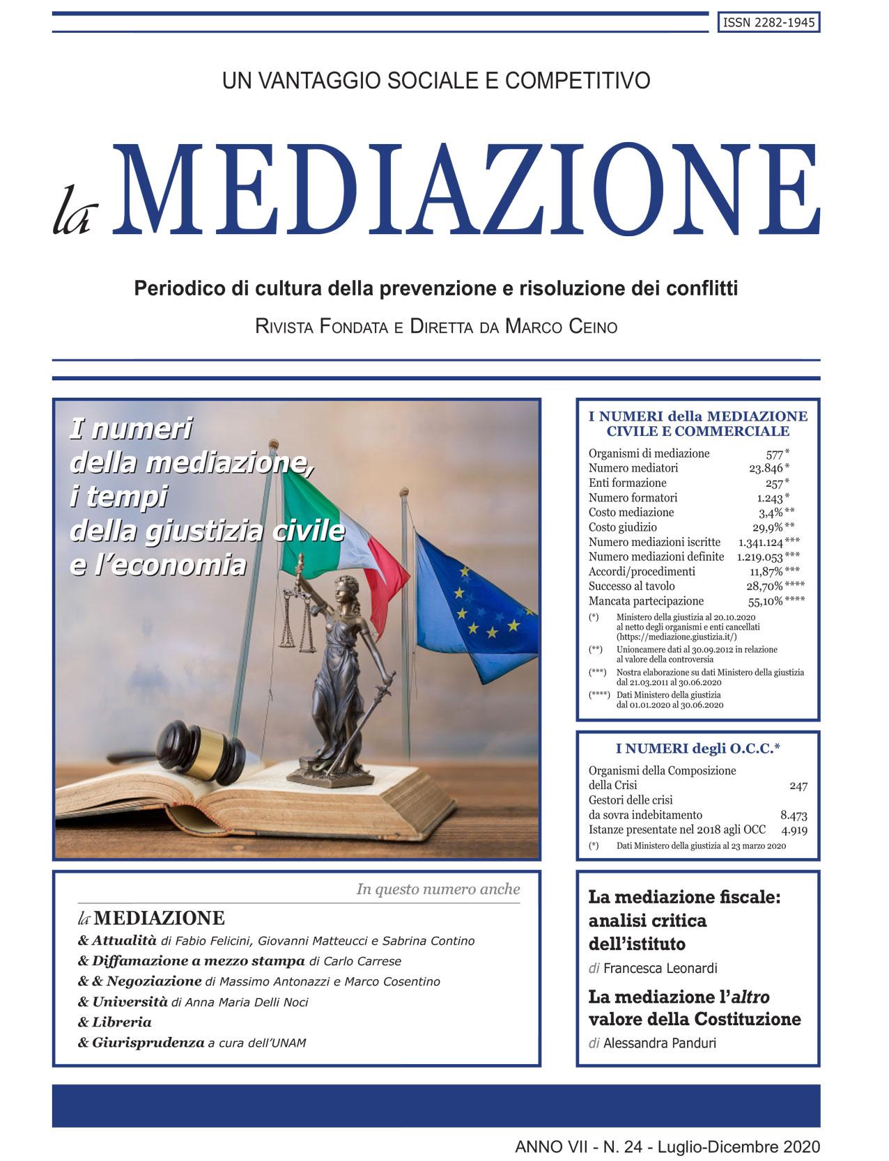 I numeri della mediazione, i tempi della giustizia civile e l'economia di Marco Ceino